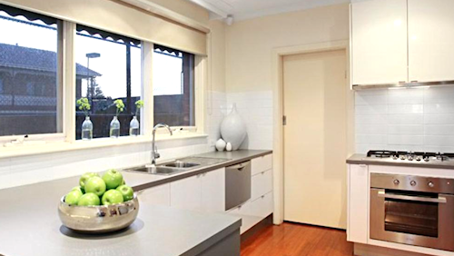 The contemporary kitchen at unit 4, 26 Emma Street, Caulfield South