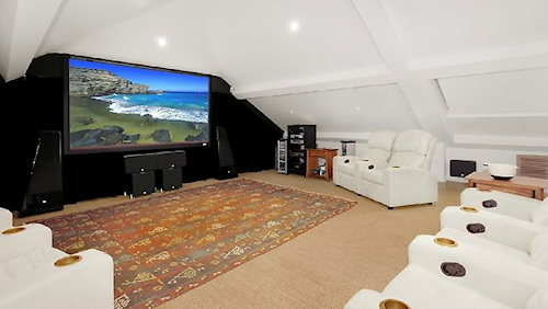 The home cinema at Barford