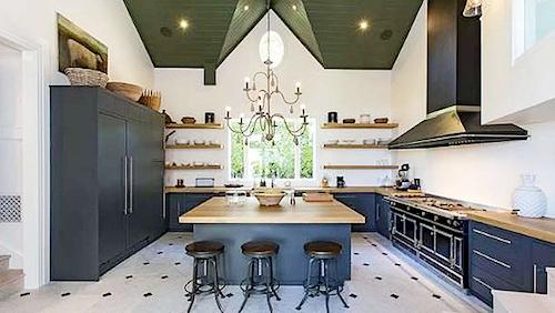 The kitchen in Paul Hogan's Malibu mansion