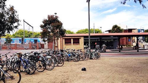 Bikes outside Yarraville station