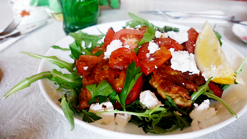 Feedback Cafe's zucchini fritters