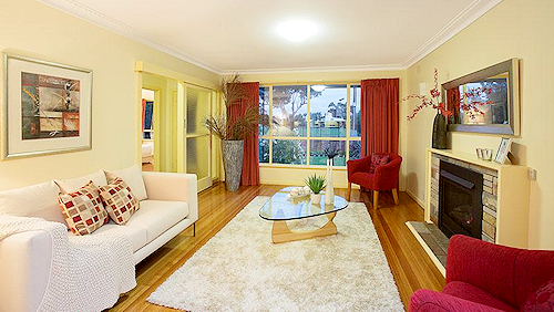Living space at 9 Medford Street, Altona