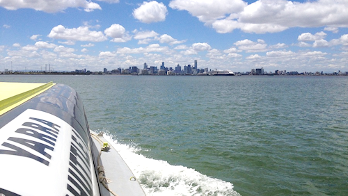 The city from Williamstown ferry