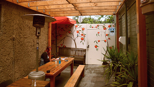 The courtyard at Coffee Edge