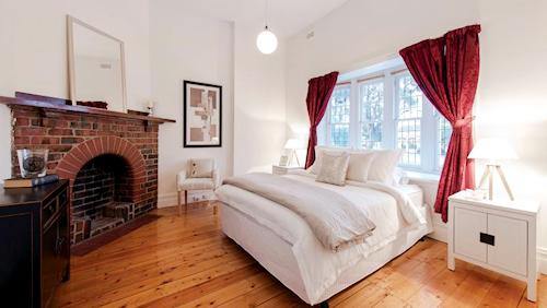 One of the bedrooms in 154 Danks Street, Albert Park