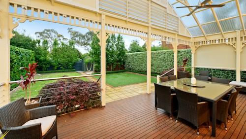 The  deck area at 7 Rose Street, Box Hill