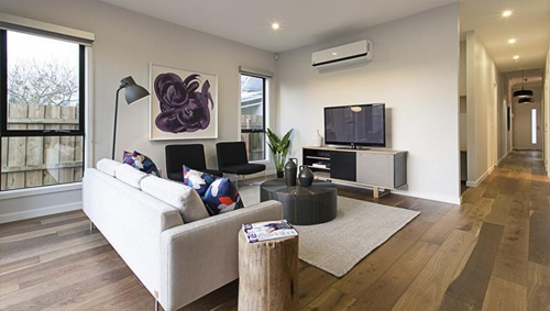 Lounge at 20 Fairlie Street, Yarraville