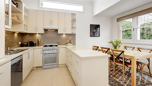 The kitchen at 43 Llaneast Street, Armadale