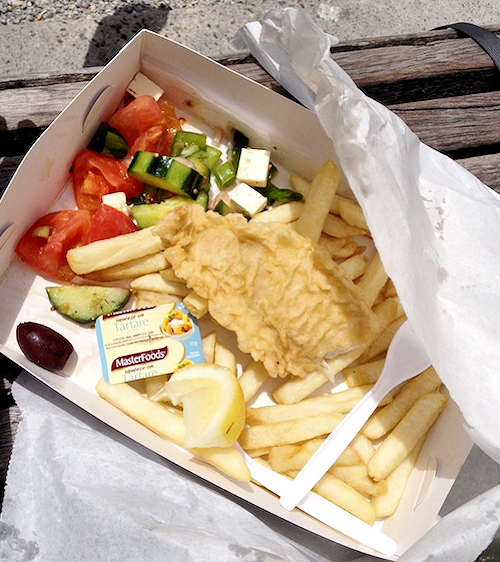Fish and Chips at Off The Pier