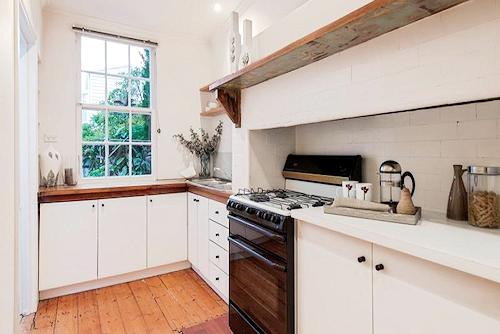The kitchen at154 Danks Street, Albert Park