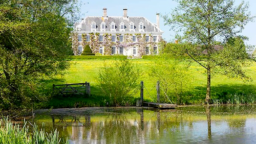 The private lake at Donnington Hall