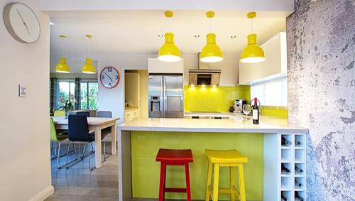 The bright kitchen